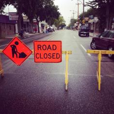 street fair 2014 road closure sign