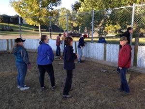 volunteers help rink