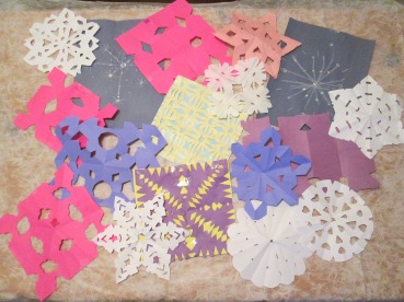 74 2017-18 snowflake art project