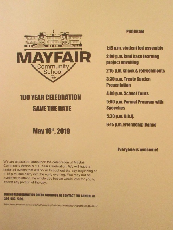 2019 Mayfair School 100 Years