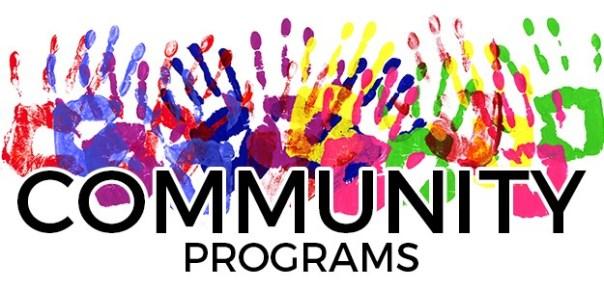 2019 Community Programs poster for online